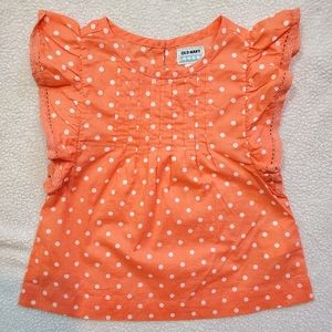 Old Navy Orange-White Blouse Size 18-24M